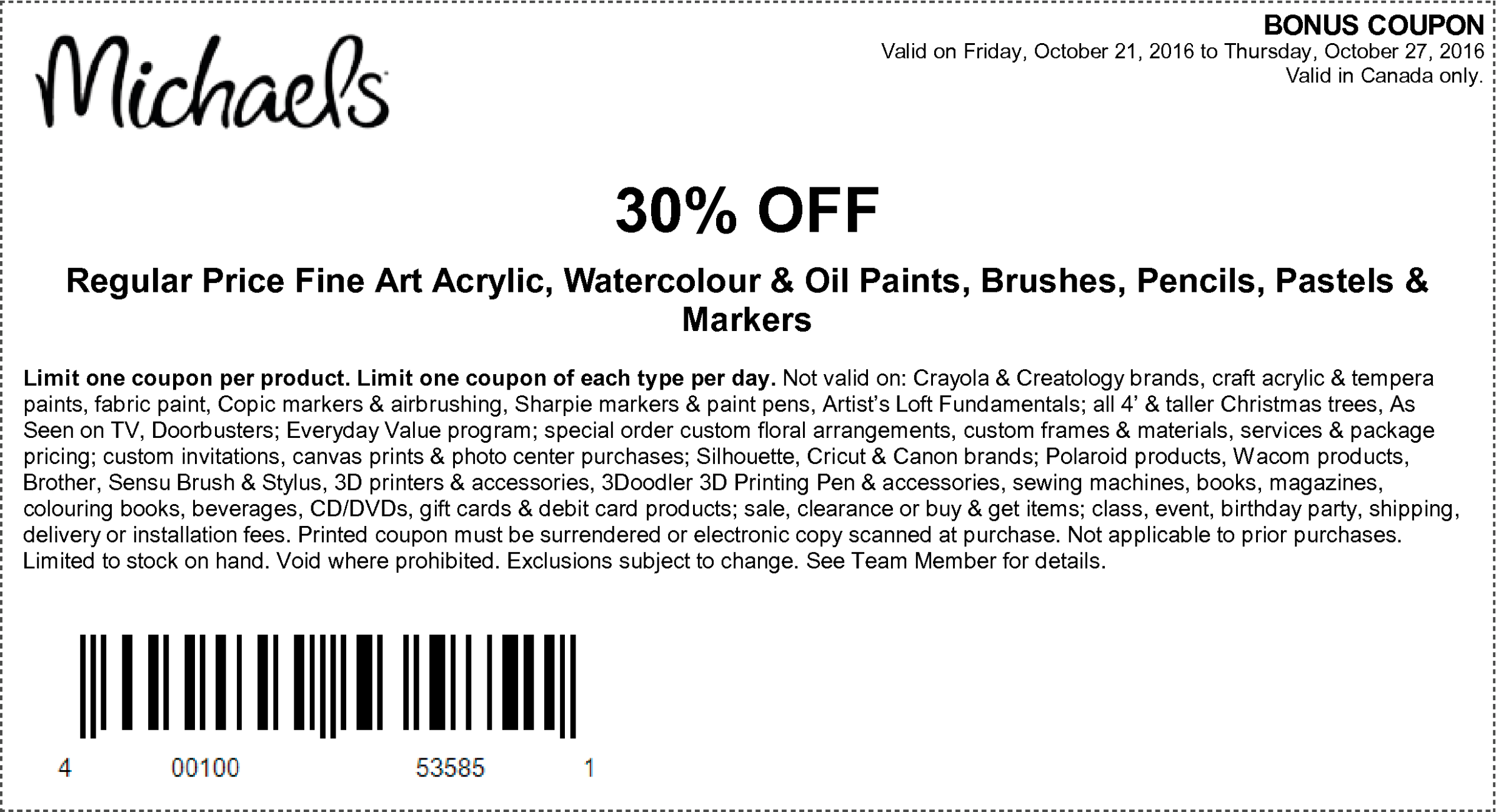 Michaels mobile coupons september 2018