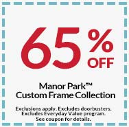 65 off manor park custom frame collection - Michaels Frame Coupon