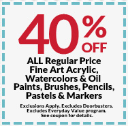40 off - Michaels Framing Coupon
